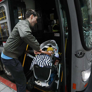 Dad and baby do the Muni lines
